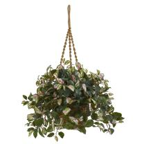 Nearly Natural Hoya Artificial Plant Hanging Basket