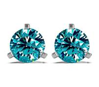 FROSTROX 14K Gold 3/4 Cttw Round Diamond Stud Earrings for Women - Mother's Day Gifts