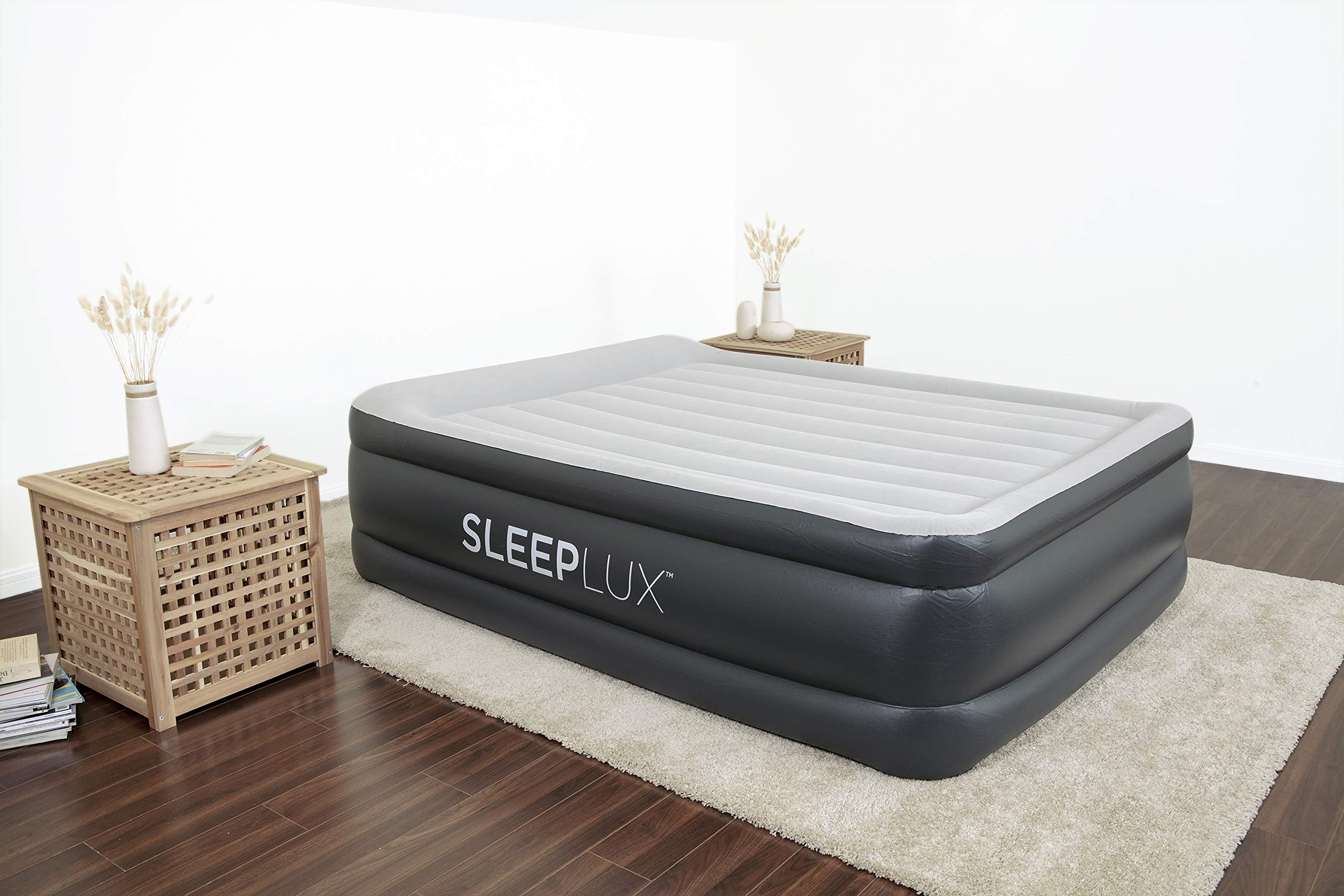 """SleepLux Queen Air Mattress with Built-in AC Pump 
