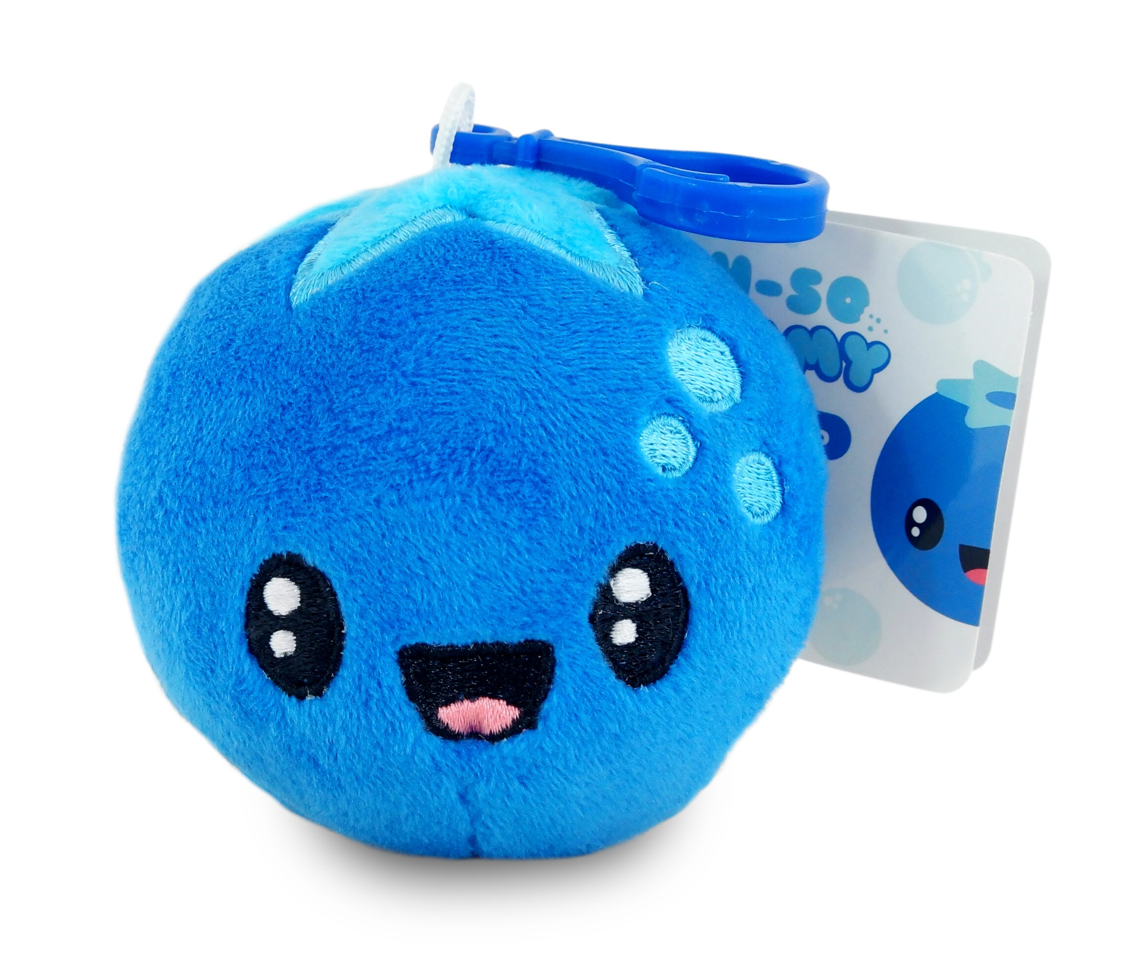 Scentco Fruit Troop Backpack Buddies - Scented Plush Toy Clips - Blueberry