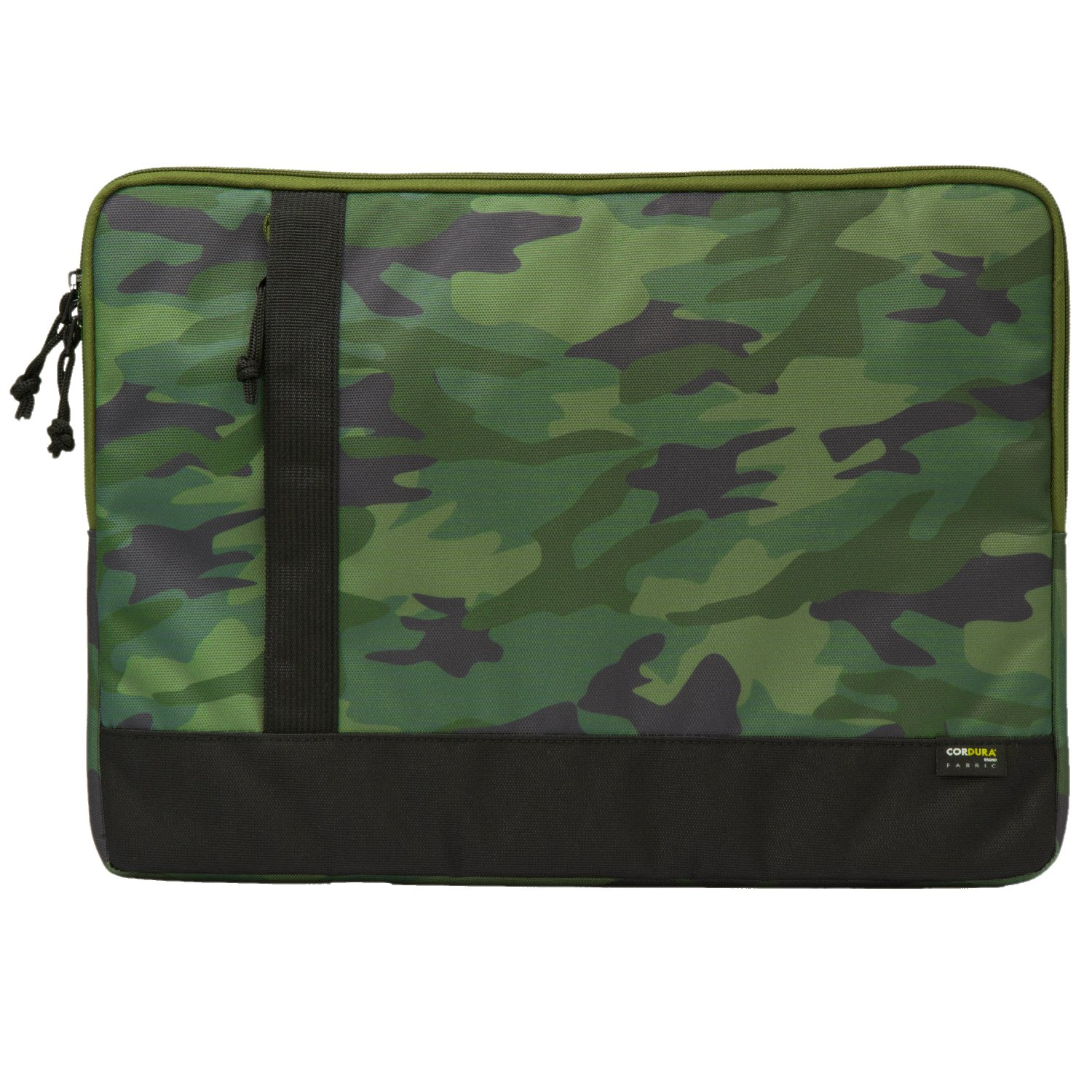ELECOM Laptop Computer Sleeve Case Support Up to 15.6inch Laptop, Water Repellent, CODURA 1000 Fabric, High Durability, Front Pocket/Camo Green/BM-IBCD15T1
