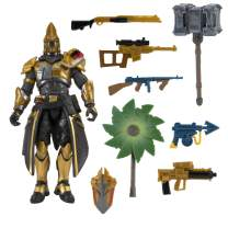 Fortnite Ultima Knight Hot Drop Figure - 4 Inch Action Figure with 25+ Points of Articulation - Includes Vanquisher Harvesting Tool, Palm Leaf Umbrella Glider, Dragoncrest Back Bling, 5 Weapons