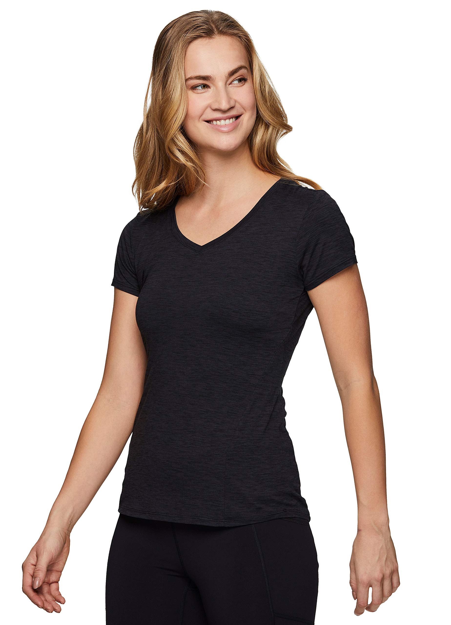 RBX Active Women's Athletic Quick Dry Space Dye Short Sleeve Yoga T-Shirt
