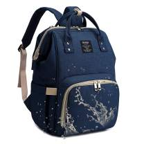 Qimiaobaby Diaper Bag Backpack, baby Nappy storage travel bag (Dark blue)