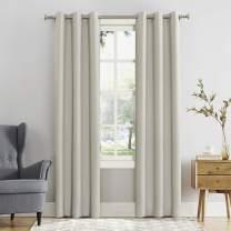 "Sun Zero 53469  Easton Blackout Energy Efficient Grommet Curtain Panel, 40"" x 108"", Pearl"