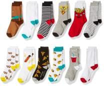 Amazon Brand - Spotted Zebra Boys Crew Socks