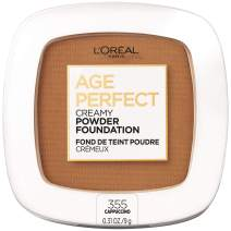 L'Oreal Paris Age Perfect Creamy Powder Foundation Compact With a Ceramide Anti-Oxidant Complex and Minerals Available in 16 Creamy Shades, Cappuccino, 0.31 oz.
