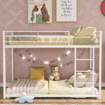 Metal Bunk Beds for Kids,Full Over Full Bunk Beds Low Profile, No Box Spring Needed