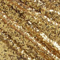 Ben Textiles Glitz Sequin & Mesh Creative Gold Fabric By The Yard