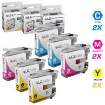 LD Compatible Ink Cartridge Replacement for Brother LC105 Super High Yield (2 Cyan, 2 Magenta, 2 Yellow, 6-Pack)
