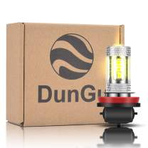 DunGu H11 H8 H16 Fog Light Bulbs LED Error Free Super Bright for Fog DRL 12V Gold Yellow Lamps Replacement (Pack of 2)