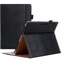 Google Pixel C Case, ProCase Leather Stand Folio Case Cover for 2015 Google Pixel C Tablet 10.2 inch, with Multiple Viewing Angles, auto Sleep/Wake, Document Card Pocket (Black)