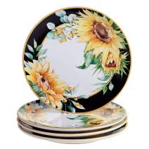 "Certified International Sunflower Fields 10.75"" Dinner Plates, Set of 4, Multi Colored"