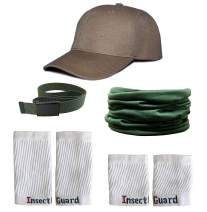 InsectGuard Permethrin Treated Tick & Mosquitoes Insect Repellent Complete Package 1 (Green/White/Khaki) One Size Fits All Up to Adult Medium