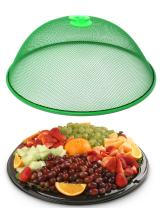 Affordit Mesh Screen Food Cover Tent Umbrella, 10.75 inch, Reusable Outdoor Picnic Food Covers Mesh, Food Cover Net Keep Out Flies, Bugs, Mosquitoes (1, Live Green)