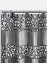 Popular Bath Sinatra Collection, Shower Curtain, Silver