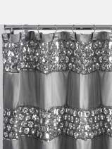 Popular Bath Sinatra Collection, Shower Curtain, Silver