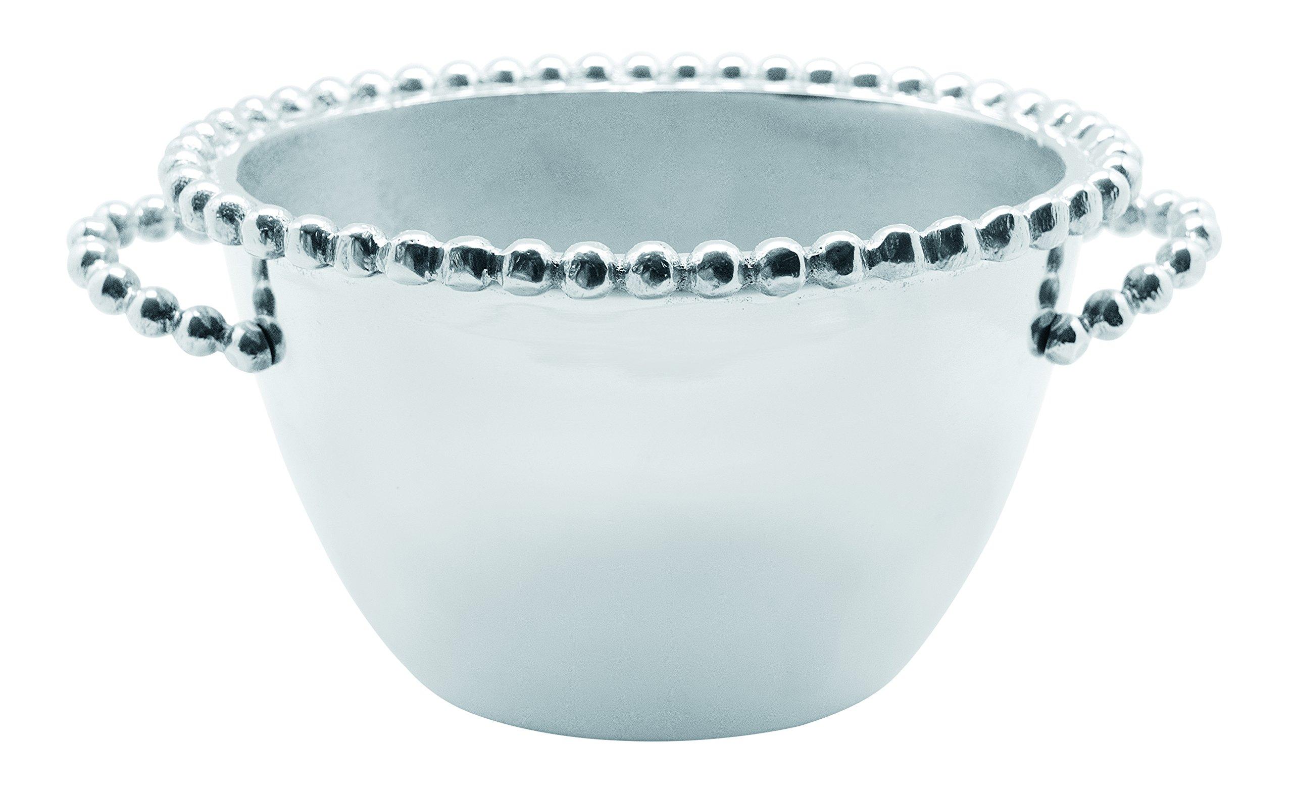 Mariposa 2732 Pearled Oval Ice Bucket, Small