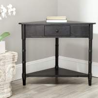 Safavieh American Homes Collection Gomez Distressed Black Corner Table