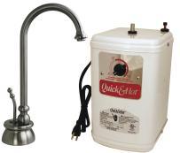Westbrass D261H-07 Calorah Single Handle Hot Water Dispenser Faucet with Instant Hot Tank, Satin Nickel