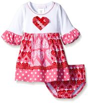 Bonnie Baby Baby Girls Appliqued Dress and Panty