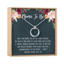 Pregnancy Necklace - Presents, Gift Ideas, Heartfelt Card & Jewelry Gift for Baby Showers, New Mom, Expectant Mother, Pregnant Friend, Sister, Daughter, etc