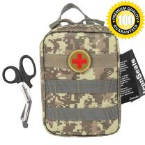 IronSeals Tactical MOLLE EMT Medical First Aid IFAK Blowout Utility Pouch with First Aid Patch and Shear