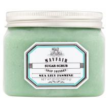 Mayfair Soap Foundry | Sugar Scrub in Sea Lily Jasmine 20 oz | Exfoliate & Soften Dry Skin with Natural Pumice & Sugar