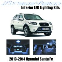 Xtremevision Interior LED for Hyundai Santa Fe 2013-2014 (5 Pieces) Cool White Interior LED Kit + Installation Tool