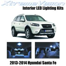 Xtremevision Interior LED for Hyundai Santa Fe 2013-2014 (5 Pieces) Cool White Interior LED Kit + Installation Tool