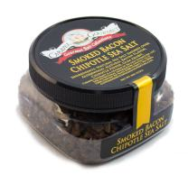 Smoked Bacon Chipotle Coarse Sea Salt - All-Natural Bacon Sea Salt Slowly Smoked for Perfect Smoky Flavor - No Gluten, No MSG, Non-GMO - Cooking or Finishing Salt - 4 oz. Stackable Jar