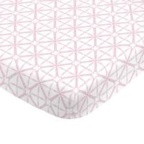NoJo Super Soft Pink Tie Dye Nursery Crib Fitted Sheet, Pink, White