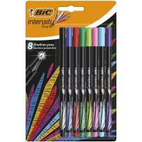 BIC 12 Intensity Fineliner Pen - Assorted Pack of 8