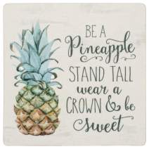 Be a Pineapple Wear a Crown Be Sweet Whitewash Look 2.75 x 2.7 Wood Inspirational Magnet