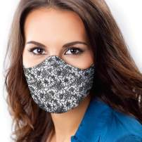 USA Made Cloth Face Mask, Three Layer Face Mask With Filter Pocket, Non-Woven Filter Layer, Nose Wire And Adjustable Straps