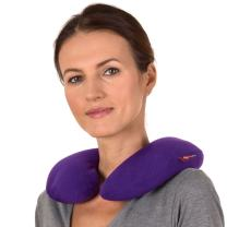SunnyBay Microwavable Heated Neck Pillow: Large Heat Therapy Pad for Sore Neck & Shoulder Muscle - Microwavable Thermal Pad - Easy Strap for Therapy - Large Heating Pad for Shoulder Pain & Neck Relief (Purple)