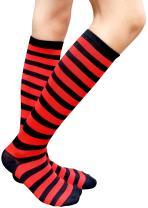 AM Landen Women Teens Knee High Tube Socks Mid-Calf Socks Costume Cosplay Socks Girls Novelty Socks Gift Socks