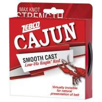Zebco Cajun Line Smooth Cast Fishing Line, Low Vis Ragin' Red