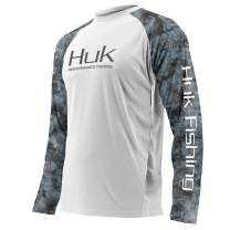 HUK Men's Double Header Vented Long Sleeve Premium Fishing Shirt with +30 UPF Sun Protection