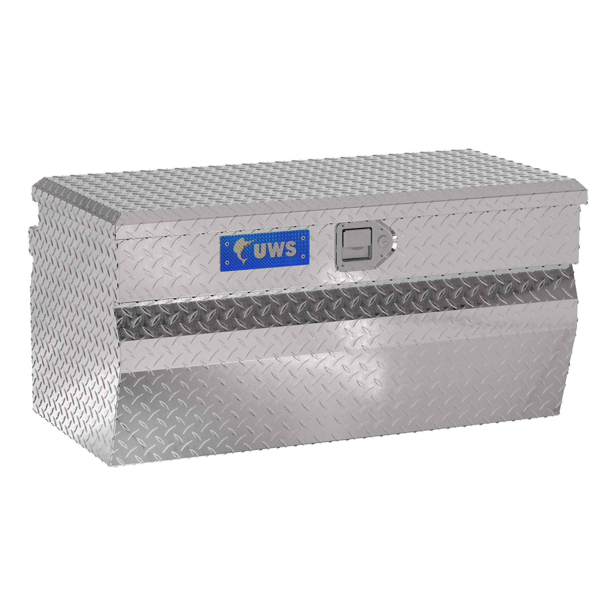 UWS EC20161 36-Inch Heavy-Wall Aluminum Wedge Truck Storage Box, RigidCore Lid