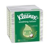 "Kleenex Soothing Lotion Facial Tissue, 8.20"" x 8.40"", White 27 per Carton"