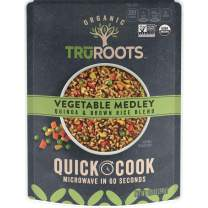 TruRoots Organic Quick Cook Quinoa and Brown Rice Blend, Vegetable Medley, 8.5 Ounces (Pack of 8)