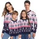 Hawiton Family Matching Ugly Xmas Sweaters Funny Long Sleeve Christmas Reindeer Sweater Festive Pullover