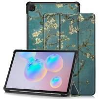 Neepanda Case for Galaxy Tab S6 Lite 10.4 2020, PU Leather Ultra Thin Lightweight Tri-Fold Smart Protective Shell Case Cover for Samsung Galaxy Tab SM-P610/P615 2020 [Auto Wake/Sleep] - Blossom