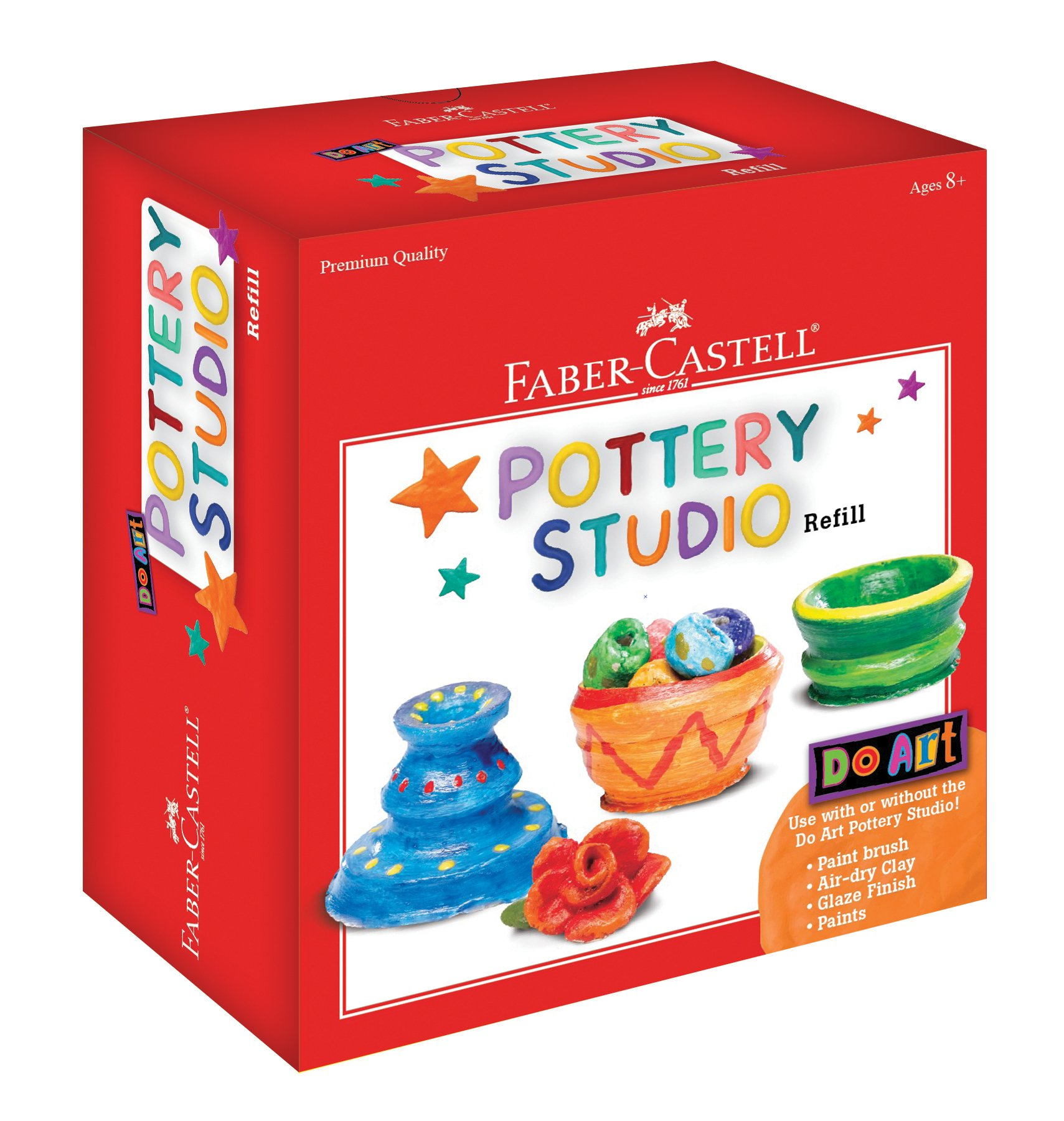 Faber-Castell Do Art Pottery Studio Refill - 2 Pounds of Air-Dry Pottery Clay for Kids