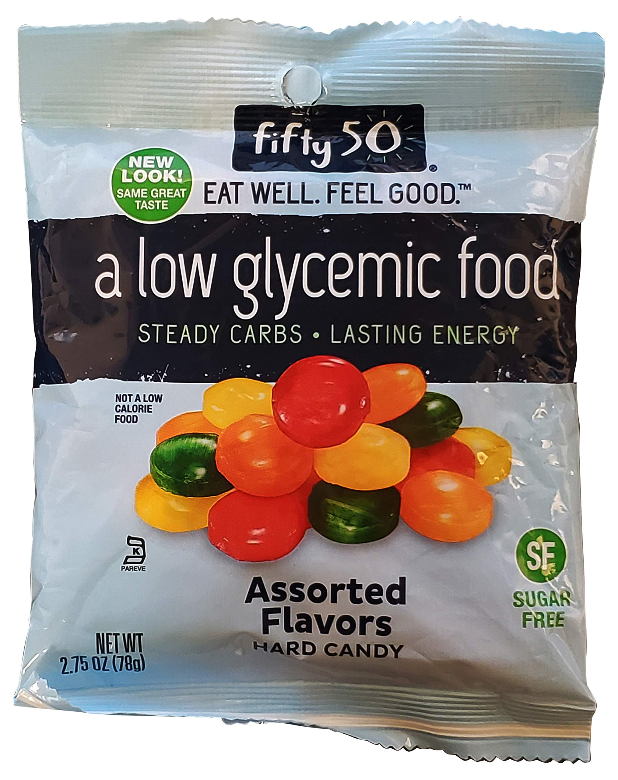 Fifty 50 Foods Hard Candy, Assorted Fruit, 2.75 Ounce Packages (Pack of 8)