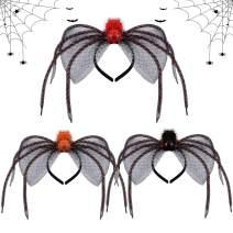 Spider Headband,Kapmore 3PCS Creative Halloween Costume Hair Hoop Party Headpiecefor Kids Adults
