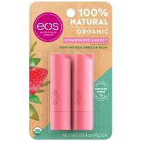 eos Natural & Organic Stick Lip Balm -  Strawberry Sorbet | Certified Organic & 100% Natural | Deeply Hydrates and Seals in Moisture | 0.14 oz | 2-Pack (Packaging May Vary)