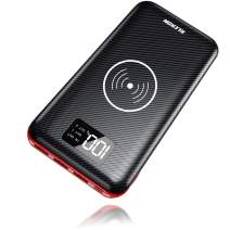 Wireless Portable Charger 24000mAh Power Bank Huge Capacity Charge External Battery Pack Dual Inputs & Three Output with LCD Display, Compatible with Smart Phones, Tablet and More