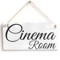 """Meijiafei Cinema Room - PVC Sign Plaque 10""""x5"""""""